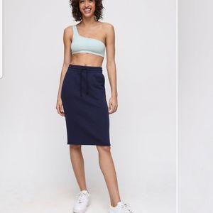 Aritzia TNA Cotton Fleece Midi Skirt